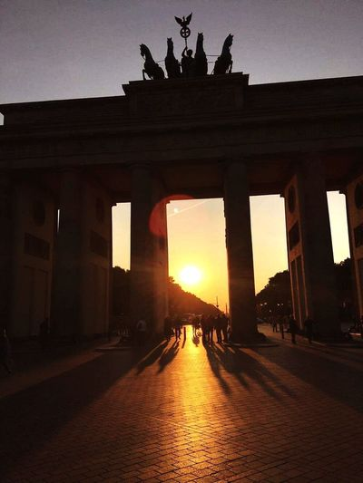 Architecture Architectural Column Built Structure History Sunset Travel Destinations City Statue City Gate Sky Outdoors Sculpture No People Day Brandenburger Tor Berlin Germany Love Brandenburg