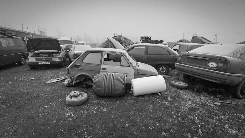 Cars Country Fair Fiat Maluch Scrap Yard Transportation Winter