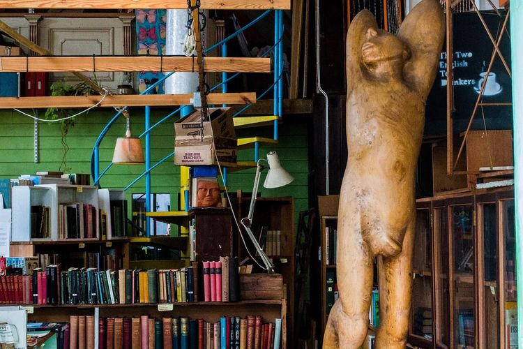 Bookshop Sculpture Human Figure Second Hand Books Second Hand Bookstore Westleton Saxmunum