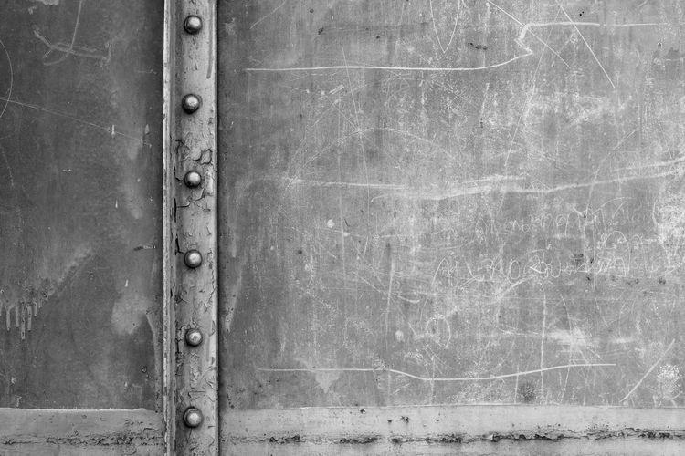 Full frame shot of old metal structure