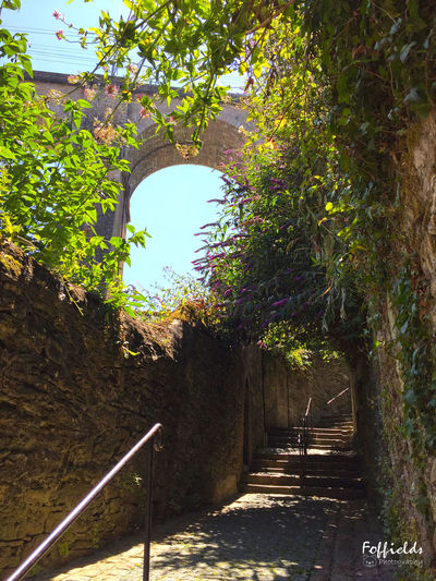Access to the first floor of the viaduct Alley Ambiance Architecture Beauty In Nature Bretagne Brittany France Nature Old City Old Town Path Quiet Quiet Moments Ruelle Shadow Shadows & Lights Staircase Stairs Steps Steps And Staircases Sunlight The Way Forward Viaduct Walkway Warm