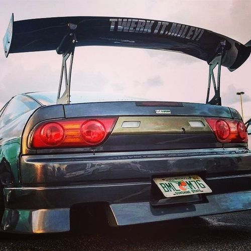 I need dis in my life, Driftcar 180sx BIG wing Fortwerking