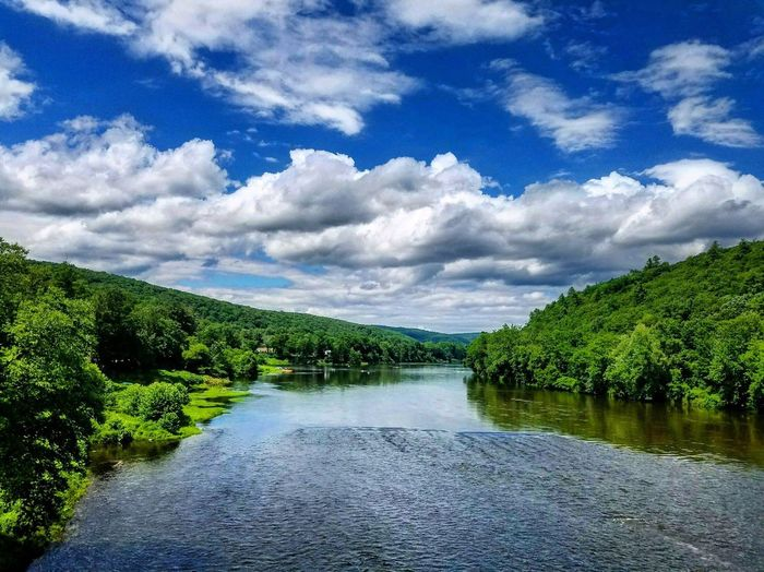 Perspectives On Nature Water Beauty In Nature Cloud - Sky Sky Tree Nature Tranquil Scene Scenics River Tranquility Outdoors No People Day Green Color Growth Forest