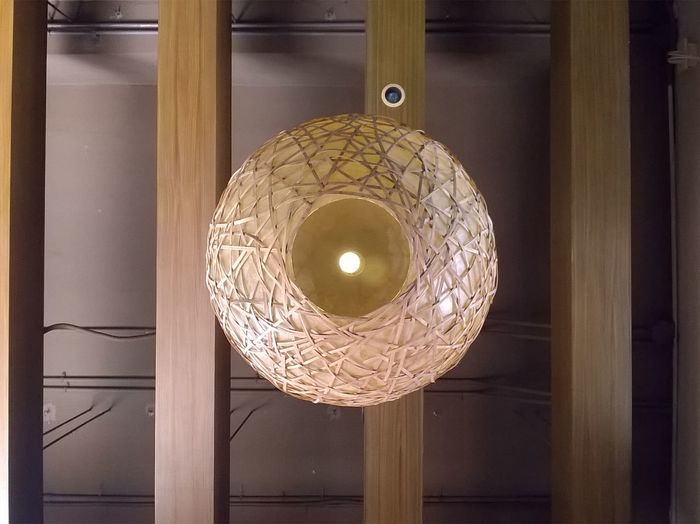Hanging Indoors  Old-fashioned Lamp Cealing Rattan