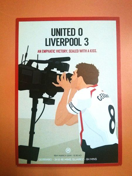 A postcard from one of the many memorable games Liverpool played under you, Stevie. I get why you have to go, but I wish you didn't have to. Thank you for the memories. You'll Never Walk Alone. Stevengerrard Liverpoolfc First Eyeem Photo