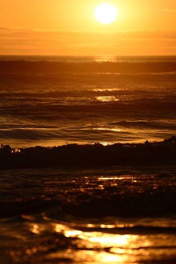 Scenic sunset. Back beach. Geraldton. Coral Coast. Western Australia Australia Australian Landscape Geraldton Western Australia WesternAustralia Beauty In Nature Geraldton Australia Idyllic Nature No People Orange Color Outdoors Reflection Romantic Sky Scenics - Nature Sea Sun Sunlight Sunset Sunsetporn Tranquil Scene Tranquility Water Waterfront Waves