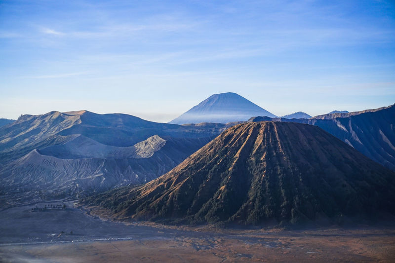 Scenic view of bromo mountains against sky