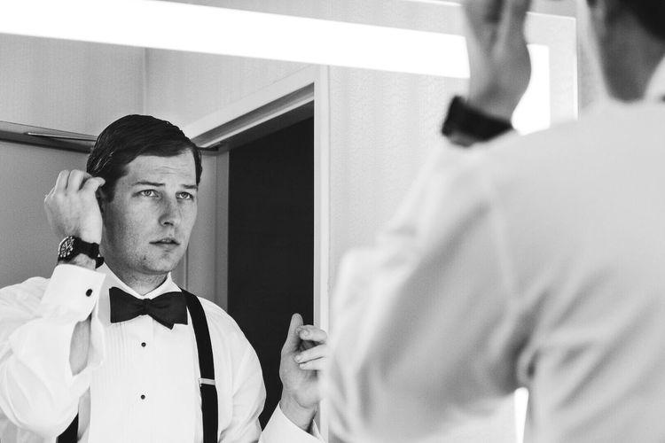 The Portraitist - 2016 EyeEm Awards Suave Dapper Fashion Mirror Portrait Black & White Tuxedo Handsome Film Noir Noir Black And White