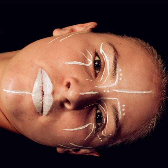 Black Background Human Face Close-up Beauty Portrait White Black Blackandwhite Model Girl Eye Make-up Studio Photography Studio Shot Cosmetics Portrait Photography Portrait Of A Woman Beautyshot Colorful Makeup Makeup Artist