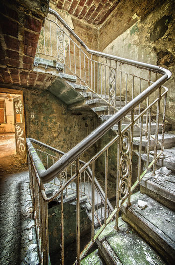 Staircase in old building
