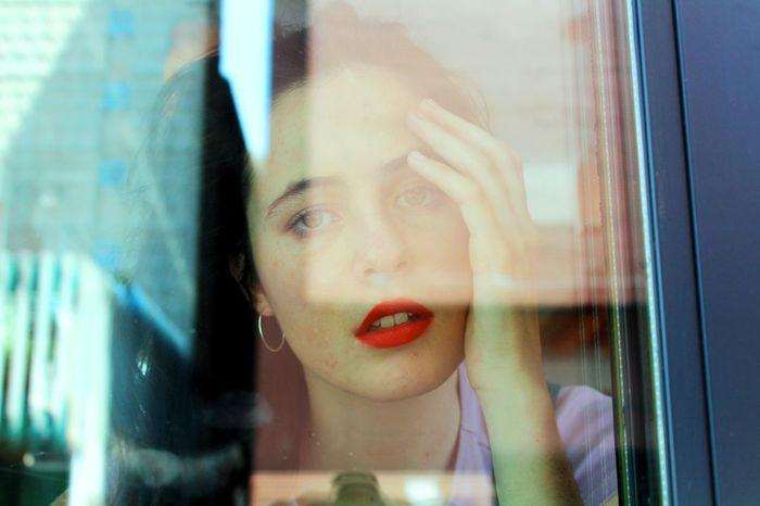 Memories Cherry Lips Childhood Crystal Image Lifestyles Looking Through Window Reflection Window