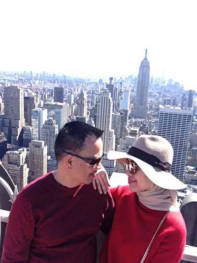 On the Top of the Rock Skyscraper Skyli View From Above Love Holiday Smile❤ Enjoying Life Architecture Coo Cityscape Picoftheday