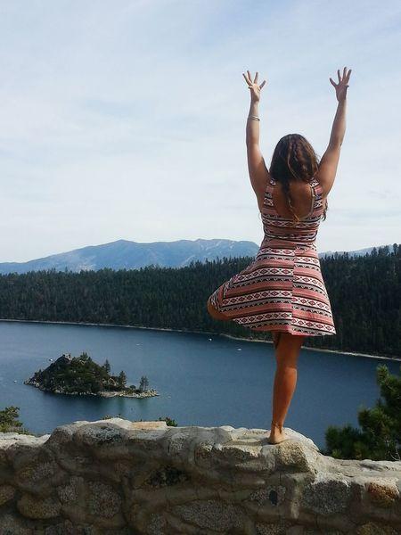 Yogalove Yoga Yogaeverydamnday Enjoying Life Pure Bliss Capturing Freedom Tahoe Blue