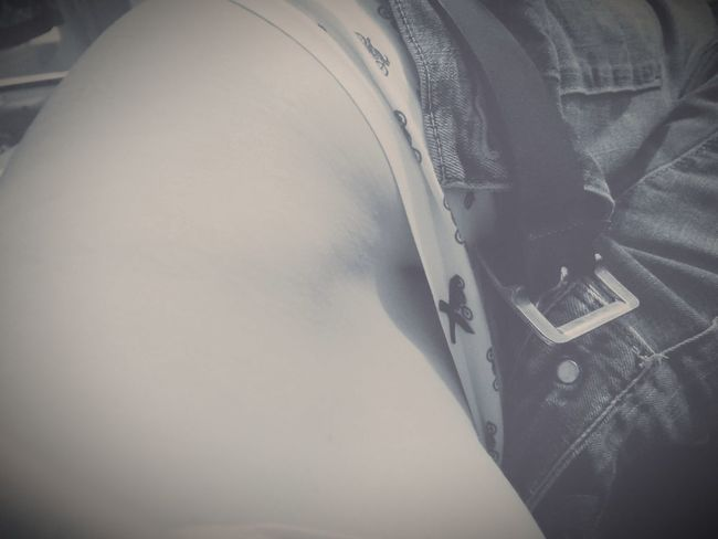 Barely a peek. Undies Hip Bone Waist Belly Close-up Resting Off Duty