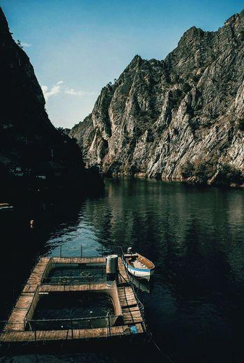 Lake Lake Reflection Scenics Outdoors Nautical Vessel Mountain Range Mountain No People Landscape Water Nature Day