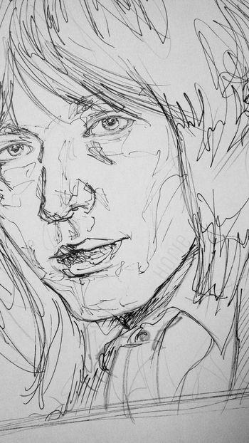 Doodling again. ArtWork Blackandwhite Artsy Art Sketchbook Art, Drawing, Creativity Portrait BrianJones Rollingstones Doodling Doodle Sketching Sketch Musician EyeEm EyeEm Gallery