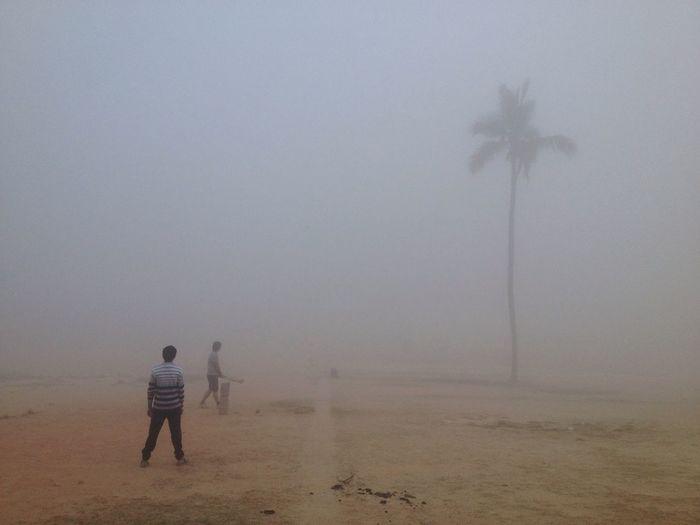 Mobilephotography Mobile Photography Mobilephoto IPhoneography Iphoneonly IPhone Iphonephotography Play Playing Playground Cricket Field Cricket! Fog FoggyFoggy Foggy Morning