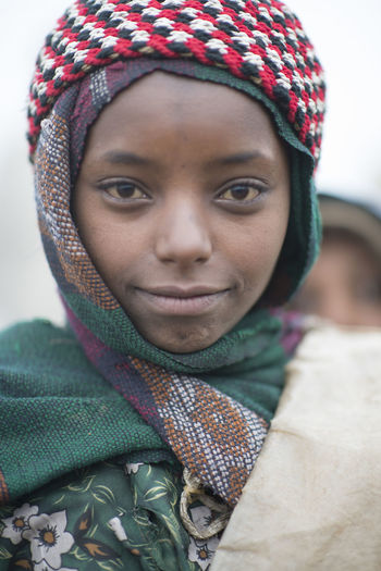 Ethiopia Ethiopian Ethiopian Photography 🇪🇹 Africa Coptic Church Coptic People Front View Looking At Camera One Person Portrait Real People Warm Clothing Wool Young Women