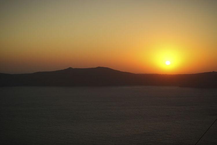 Greek Islands Honeymoon Mediterranean  Santorini, Greece Sea Sky Sunset Tranquility