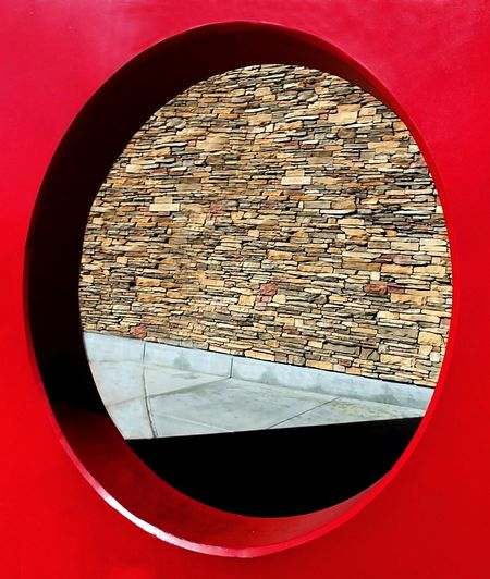 Circle Red Close-up Day Architecture Exterior Decoration Concentric Rethink Things See The Light The Graphic City