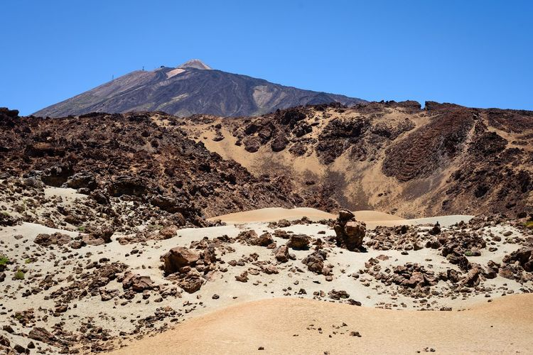 Nature Arid Climate Beauty In Nature Clear Sky Climate Day Environment First Eyeem Photo Geology Land Landscape Mountain Mountain Peak Nature Non-urban Scene Outdoors Physical Geography Scenics - Nature Sky Tenerife Tranquil Scene Tranquility Travel Destinations Volcanic Landscape Volcano