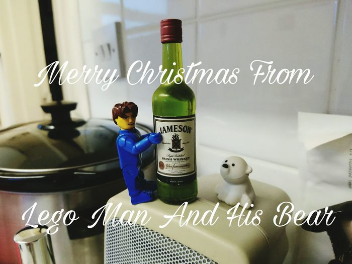 Bottle Drink Food And Drink Alcohol LEGO Lego Man Toy Bear Merry Christmas!!