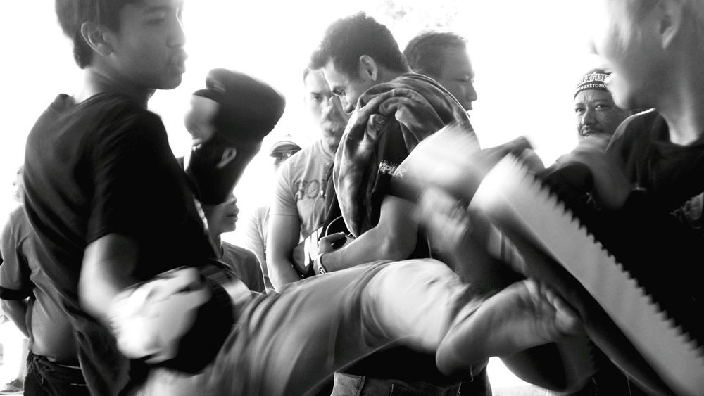 👀☝.Why so serious..😅. Muay Thai / MMA demo at the Oceanus Mall..The Moment - 2015 EyeEm Awards Capturing Movement EEA3 - Kota Kinabalu The Global EyeEm Adventure Light And Shadow Blackandwhite Photography TwentySomething Photography In Motion This Is Masculinity
