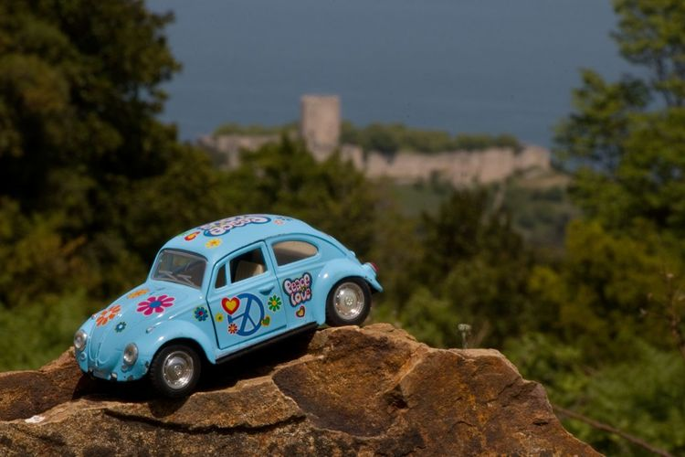 Beatle Beatlemania Blue Castle Close-up Day Focus On Foreground International Workers' Day May 1st May Day Nature No People Outdoors Platamonas Castle Sky Volkswagen
