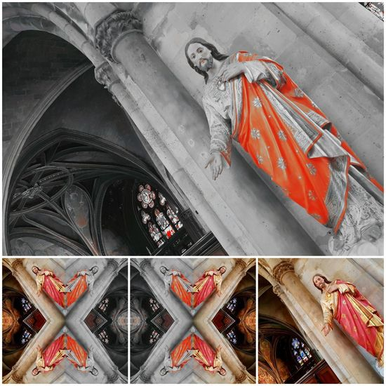 Jesus Christ Jesuschrist Châtelet Les Halles Paris Statues And Monuments Statue Photography Statues/sculptures Grey Orange Color Architecture Moving Silhouette Arch Bridge