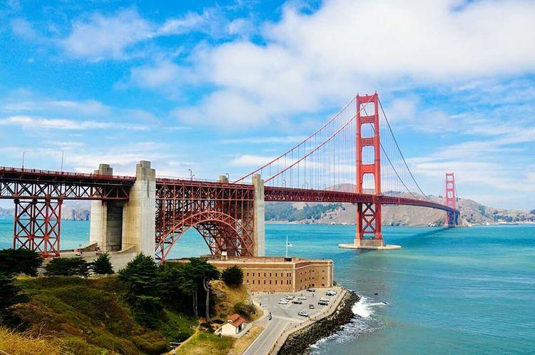 Dream came true Golden Gate Bridge San Francisco San Francisco Bay California California Dreaming USAtrip Californiaadventures Architecture Bridges Showcase: November