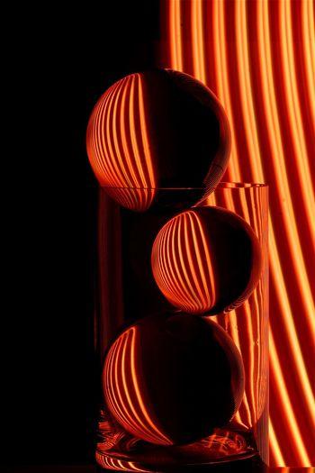 Sphere Glassball Lightpaintingphotography Lightpainting Long Exposure Indoors  No People Illuminated Lighting Equipment Close-up Red Glowing Still Life Pattern Lantern Light Shape Geometric Shape Night Design Sphere Orange Color Circle Hanging Electric Light