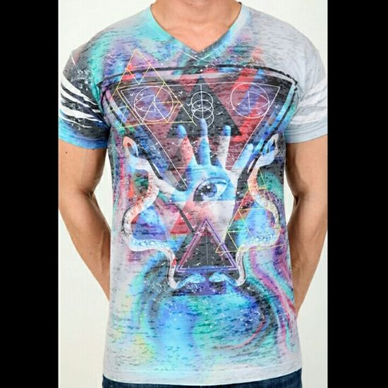 Pistol Pete MYSTIC burn out v neck 303-803 We Rock Fashion Esexymale.com Swagged Out