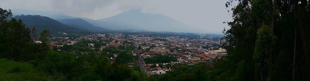 Guatemala Mirador Cerro De La Cruz Volcano Afternoon Clouds And Sky Cloud - Sky Cloudy Day Cold City View
