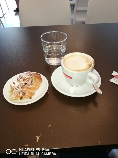 Buon giorno Table Food And Drink Indoors  Plate Drink No People Sweet Food Dessert Temptation Food Quality Day Freshness Close-up