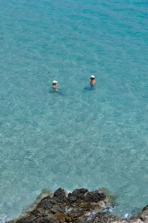 Quiet Moments Crete Greece Blu Water Holiday Grece Greece Xerokambos Cristal Water 2people White Hat Greece, Crete Been There.