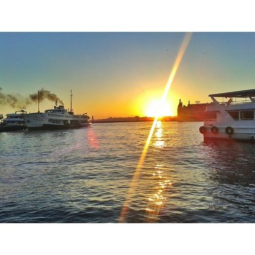 When i met you in the summer! Summer Sunset Photooftheday Instasky istanbul kadiköy
