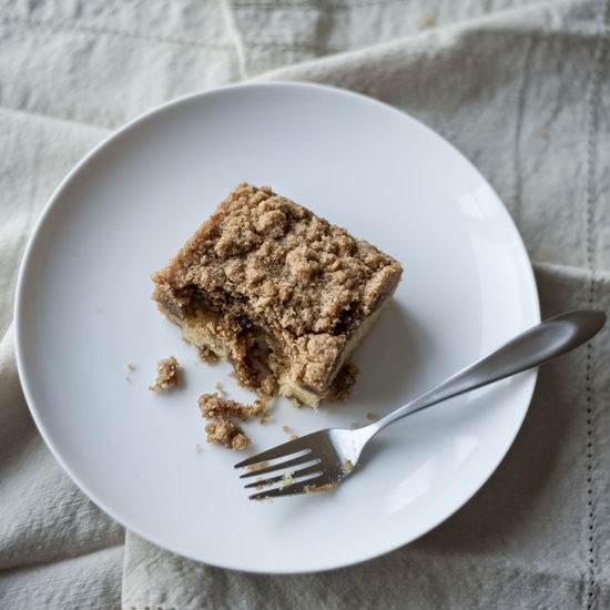 Home made, fresh baked crumb cake. Dairy and gluten free. Heaven. Crumb Cake Gluten Free Breakfast Cake Coffee Cake  Directly Above Eating Utensil Food Food And Drink Fork Freshness Home Baking Indoors  Indulgence No People Plate Ready-to-eat SLICE Slice Of Cake Still Life Sweet Sweet Food Table Temptation