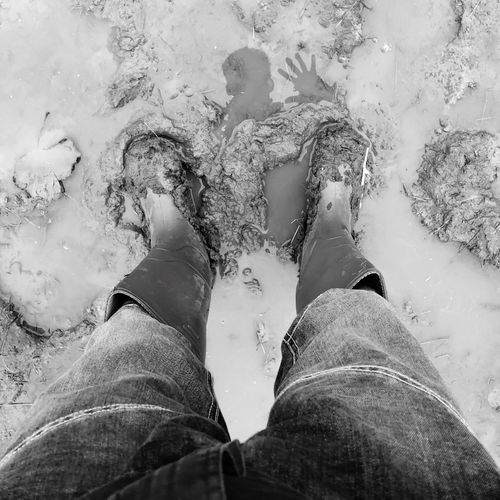 Anonymous wave. Badby Puddle Reflections Annonymous Black And White Wellington Boots Muddy Mud Reflection Low Section Human Leg Real People Personal Perspective Human Body Part Lifestyles Body Part