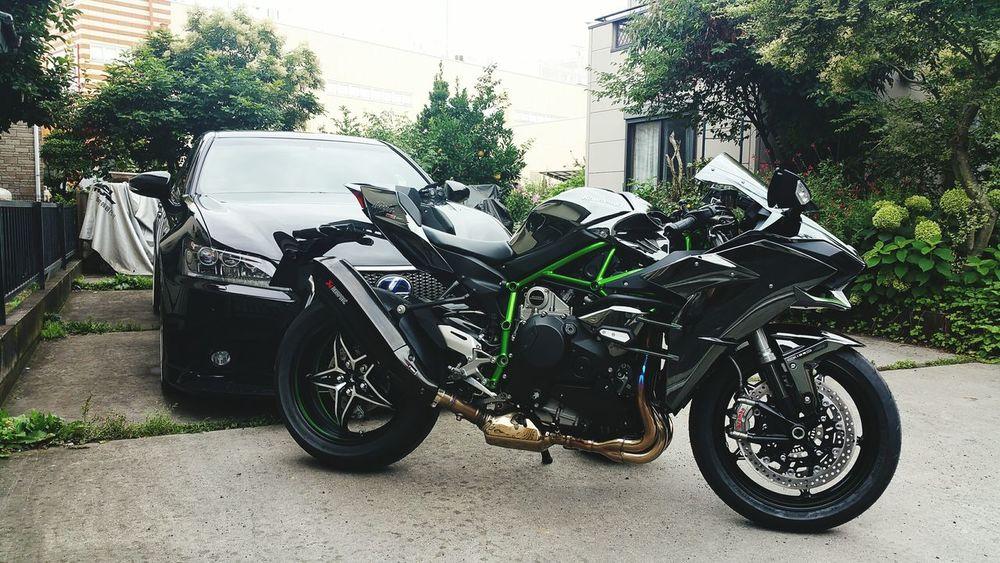 納車(^_^)/□☆□\(^_^) Kawasaki ninja H2 バイク Bike My Bike