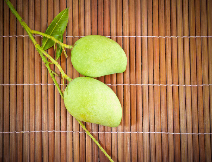Asian Food Close-up Day Freshness Green Color Indoors  Mango No People Racket Sport Tennis Wood - Material Yellow
