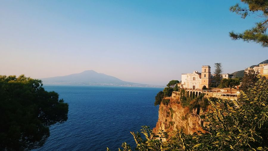 Napoli Travel Travel Photography Architecture Beauty In Nature Blue Building Exterior Built Structure Clear Sky Day Growth Landscape Mountain Napoliphotoproject Nature No People Outdoors Photo Plant Scenics Sea Sky Travel Destinations Tree Water EyeEmNewHere