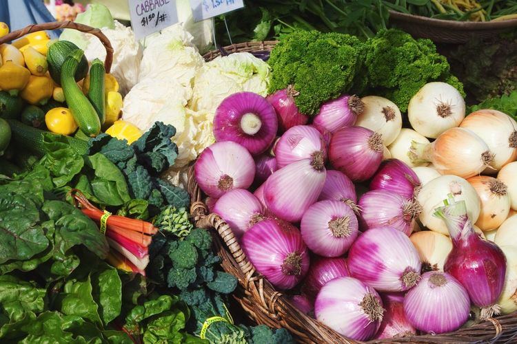 Close-up of fresh vegetables at market