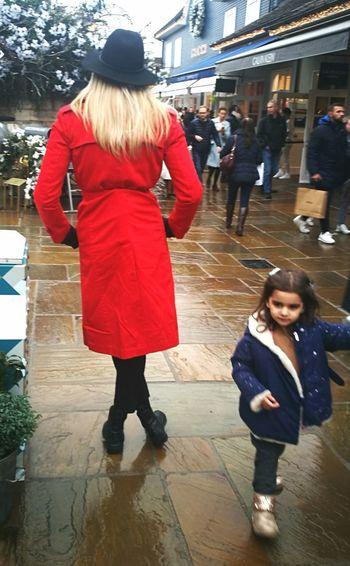 Women And Children Warm Clothing City Young Women Full Length Women Winter Walking