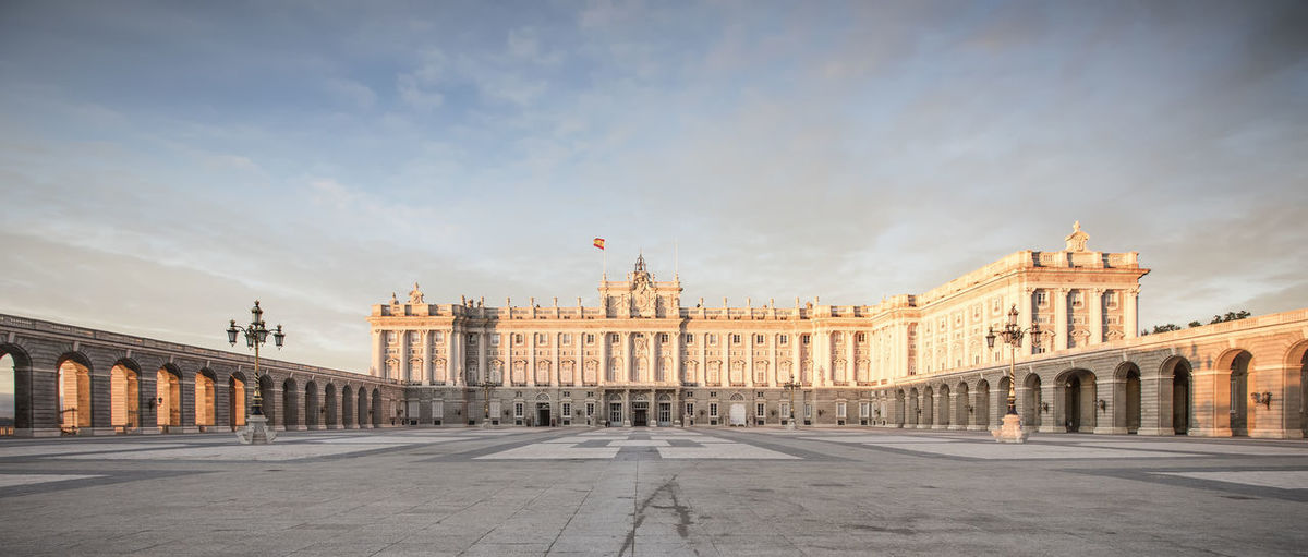 Madrid royal palace against sky