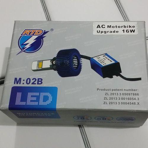 Motorcycle LED headlight bulb with fan, AC power RTD Upgrade 16w LED headlight apgmv