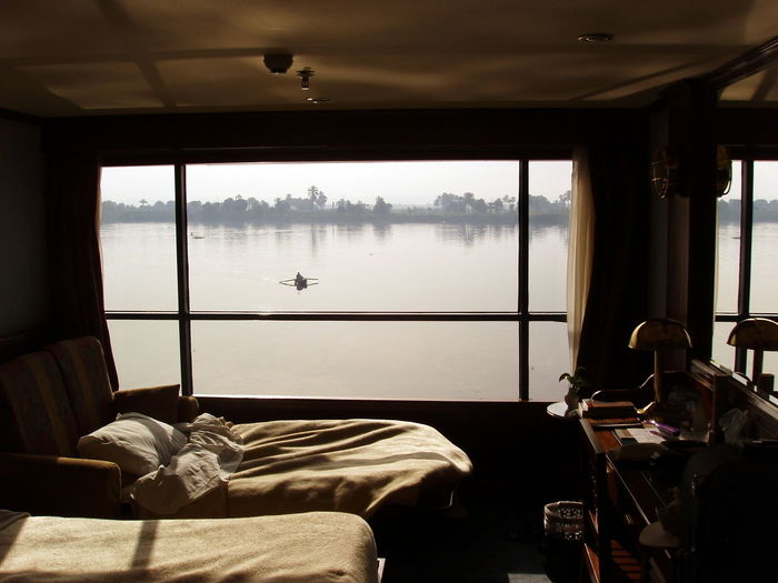 River Water View Room Window View From The Window... Transportation Nautical Vessel Indoors  Glass - Material Furniture Transparent No People Day Absence Nature Mode Of Transportation Table Seat Domestic Room Bed Luxury Passenger Craft