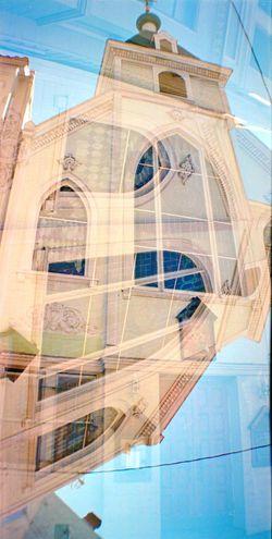 Building Exterior Belair Panorama Built Structure Koduckgirl Double Exposure 6x12 Film