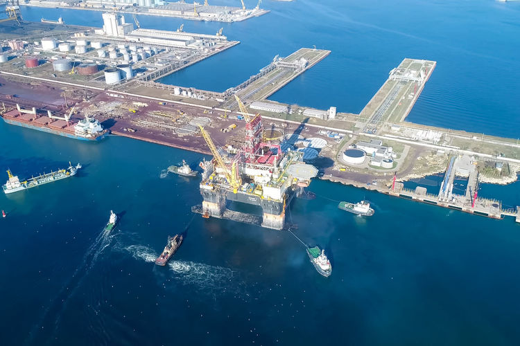 Water Sea Nautical Vessel Nature Transportation Aerial View Ship High Angle View Day Blue Mode Of Transportation Outdoors Freight Transportation Shipping  No People Industry Oil Industry Business Sunlight