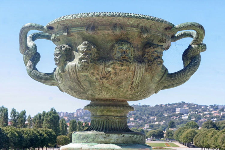Ancient Architecture Art Blue Bronze Sculpture Built Structure Capital Cities  Carving - Craft Product Craft Creativity Day Famous Place History International Landmark Marseille Monument Outdoors Parc Borely Sculpture Sky Statue The Past Tourism Travel Destinations Tree