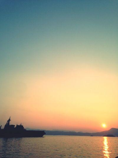 夕焼け Sunset 光の道